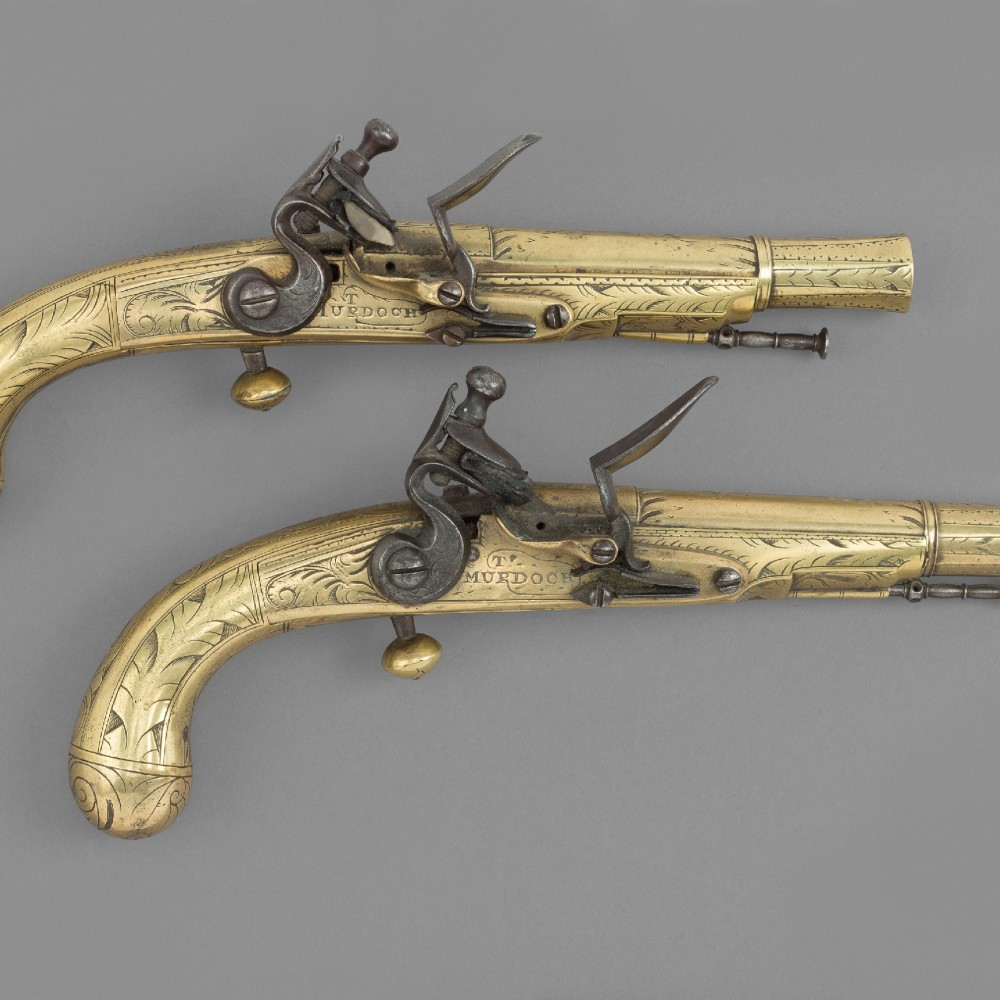 A Pair of Flintlock Belt Pistols by Thomas Murdoch,