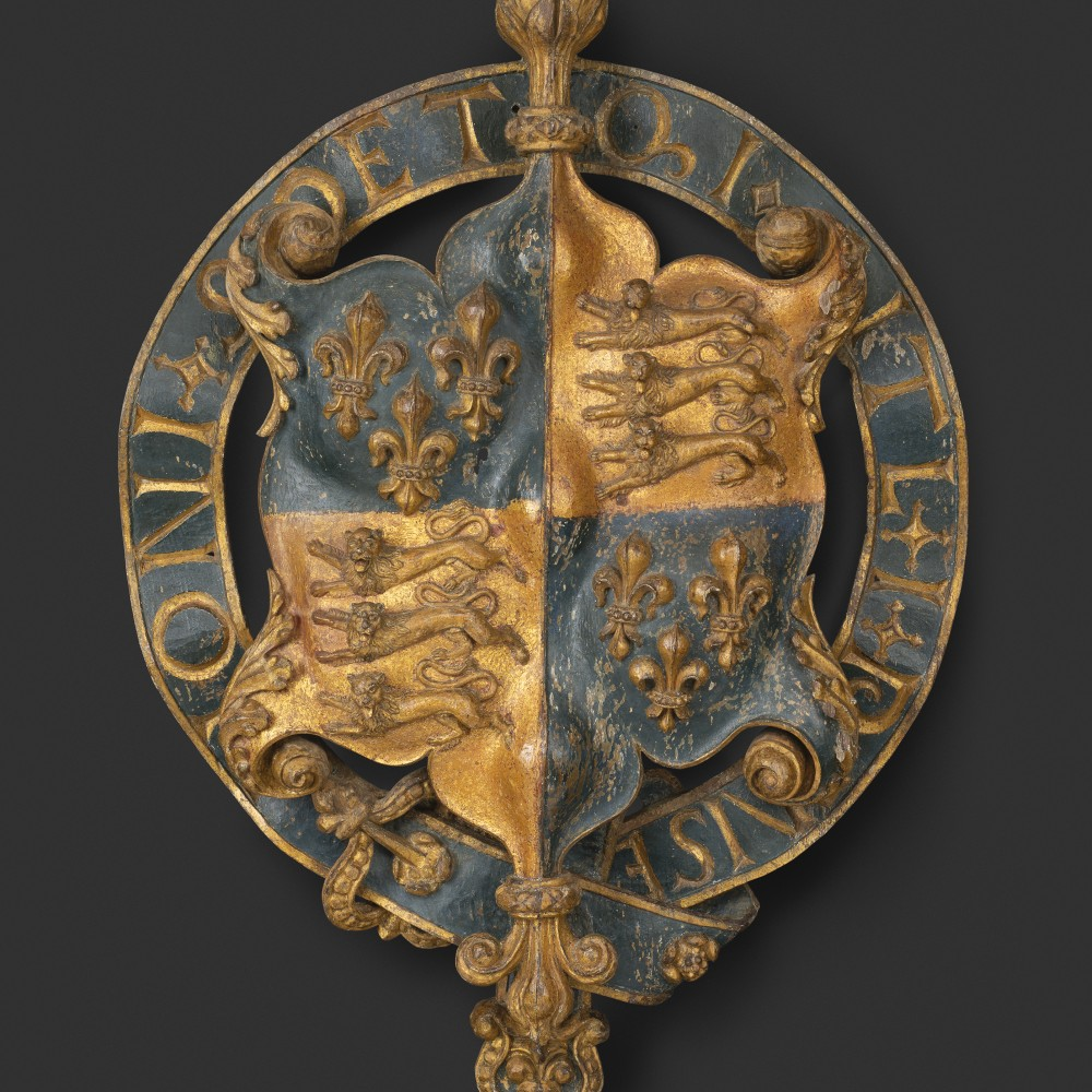 The Royal Arms of King Henry VIII, with Garter,