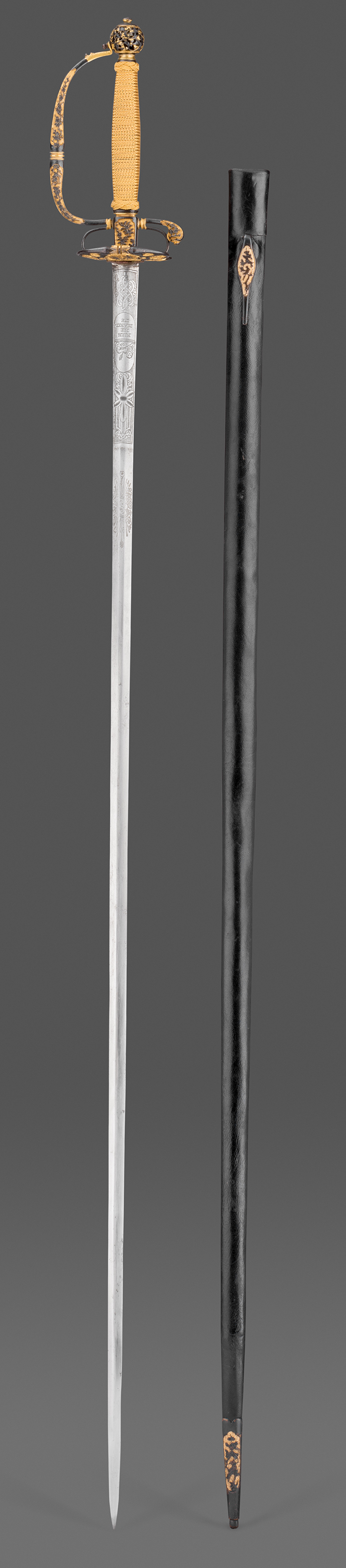 A Sawasa-Hilted Small-Sword and Scabbard,