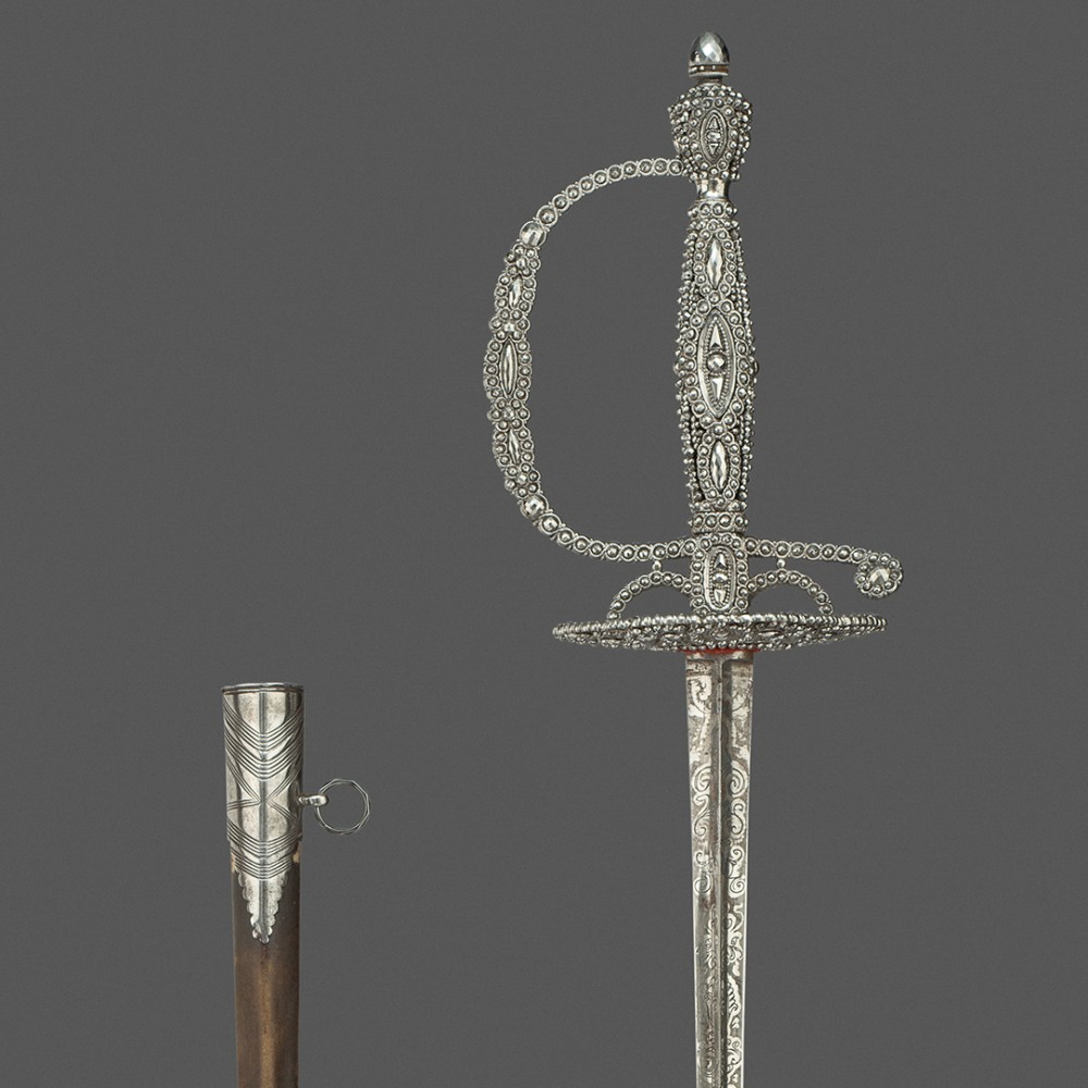An Cut-Steel Hilted Small-Sword, Probably by Matthew Boulton, Birmingham,
