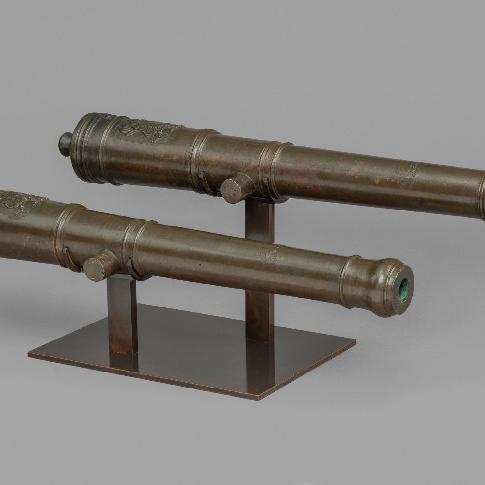 A Pair of Bronze Saluting Cannon,