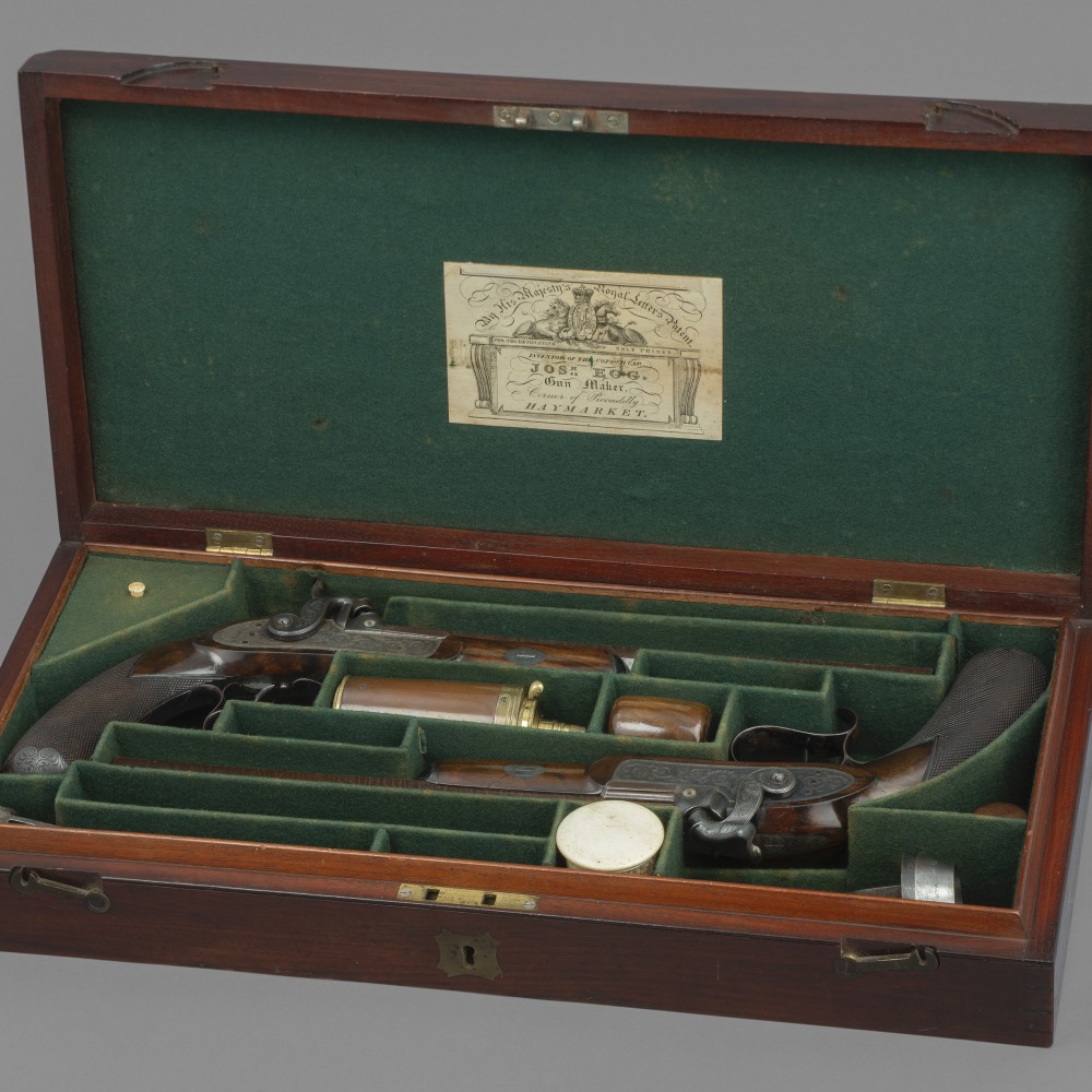 A Cased Pair of Percussion Target Pistols by Joseph Egg,