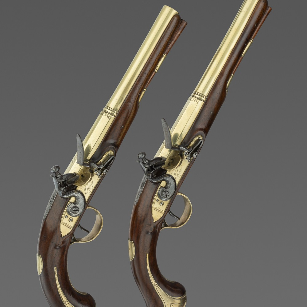A Pair of Brass-Mounted Pistols by Ketland & Co., London,