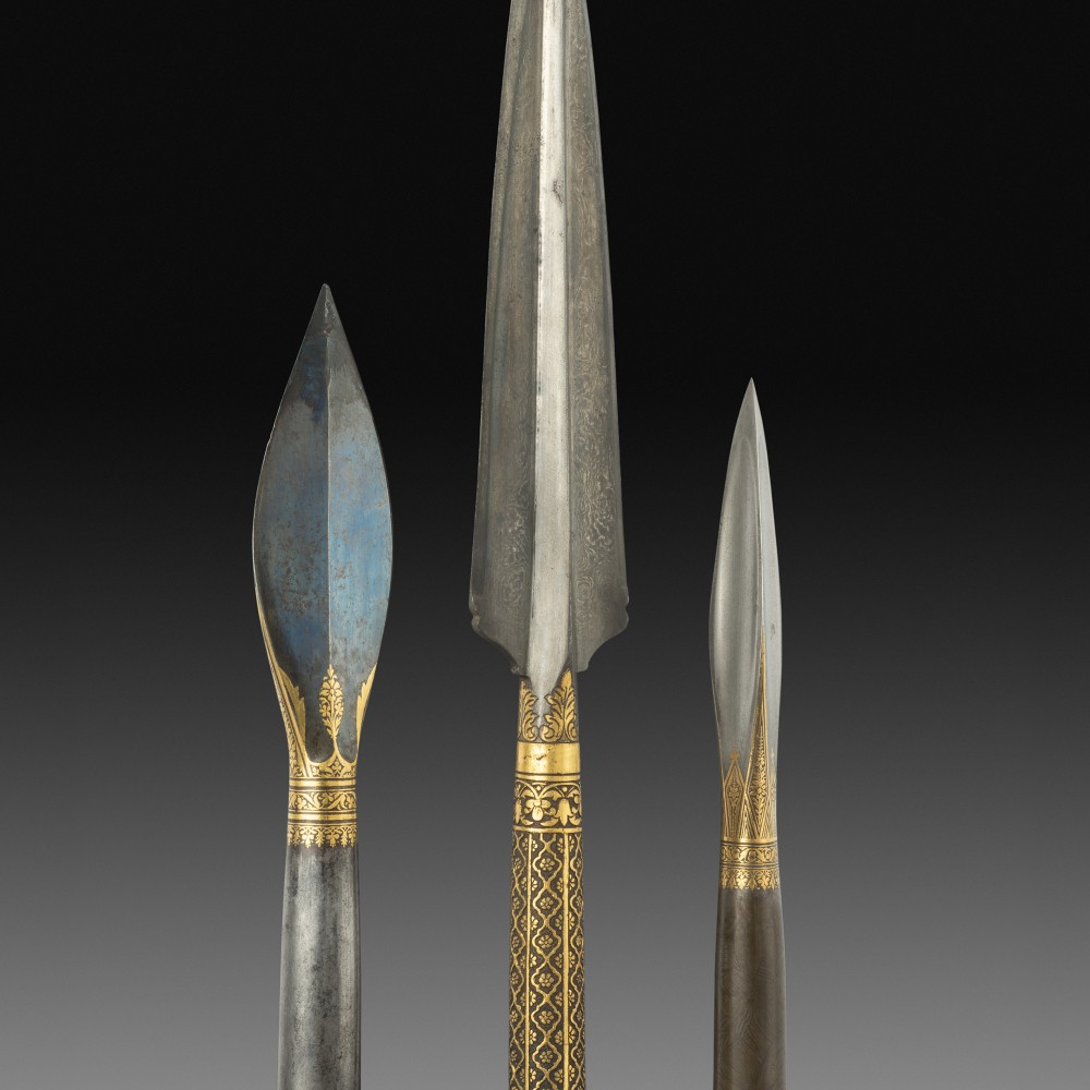 Three Indian Spearheads,